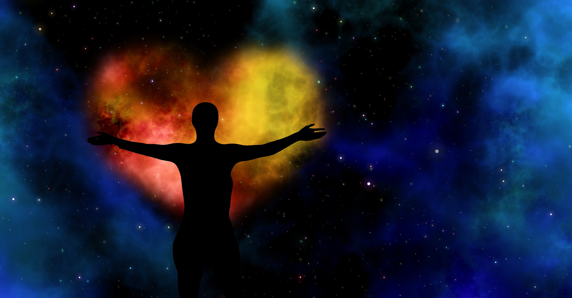 Man Holding the Mystical Heart of the Universe